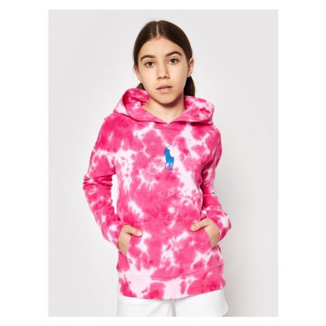 Polo Ralph Lauren Bluza Terry 313833555003 Różowy Regular Fit