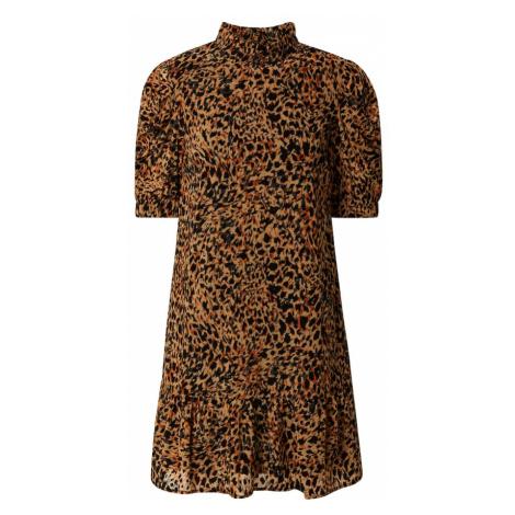 OBJECT Sukienka 'Eliza' czarny / pomarańczowy
