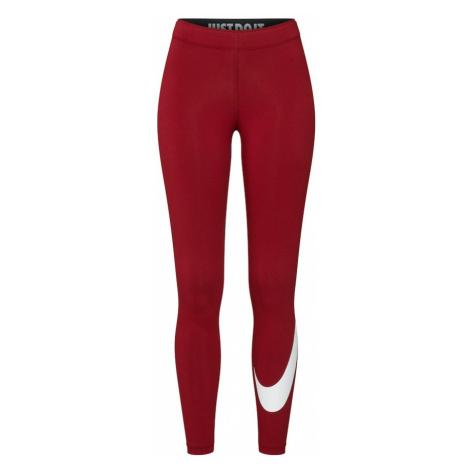 Nike Sportswear Legginsy 'W NSW LEGASEE LGGNG SWOOSH' czerwony