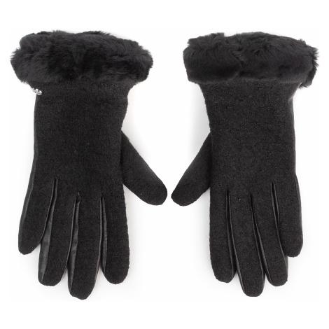 Rękawiczki Damskie UGG - W Fabric Lthr Shorty Glove 18813 Black