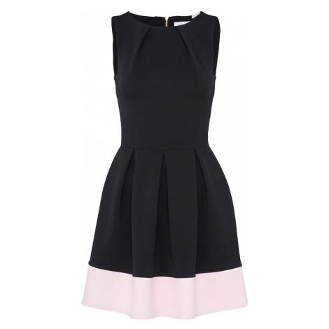Closet London Sukienka koktajlowa różowy pudrowy / czarny