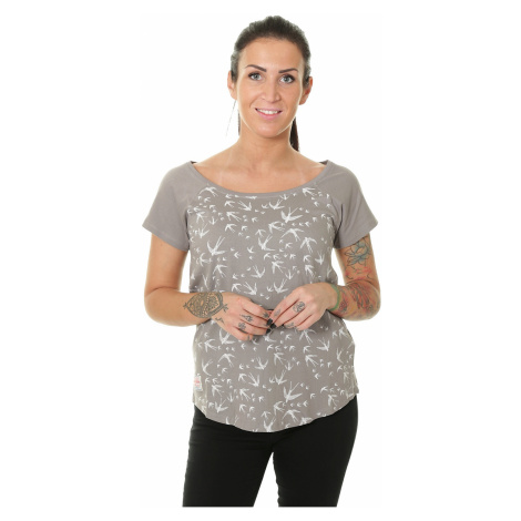 koszulka Brakeburn Birds Raglan - Gray
