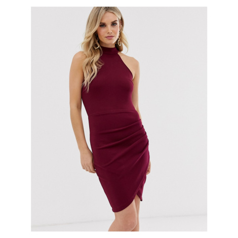 AX Paris racer neck bodycon dress
