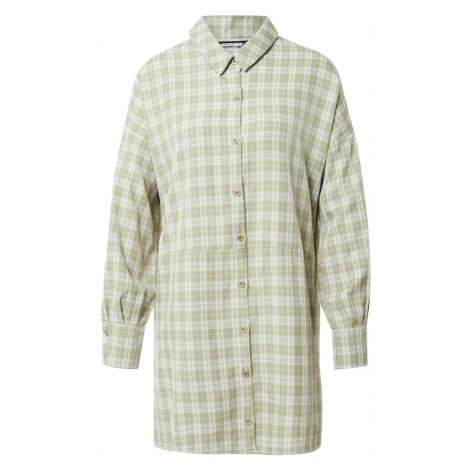 Missguided Sukienka koszulowa zielony / biały