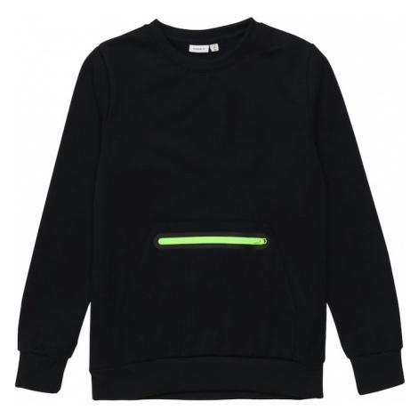 NAME IT Bluza 'Vian' neonowa zieleń / czarny