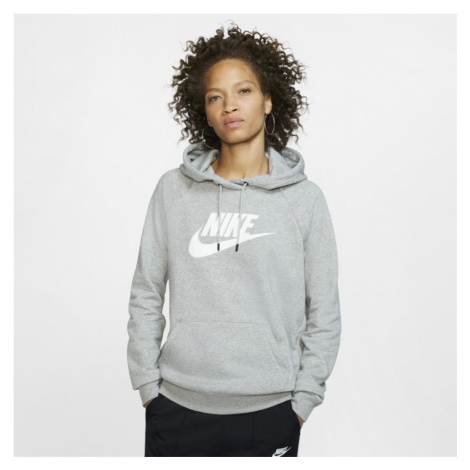 Damska dzianinowa bluza z kapturem Nike Sportswear Essential - Szary