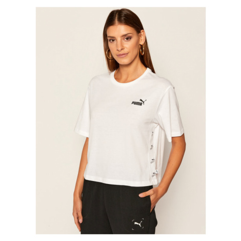 Puma T-Shirt Amplifed Tee 583609 Biały Relaxed Fit