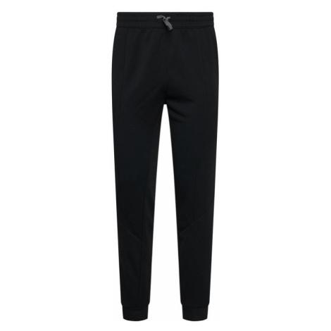 Reebok Spodnie dresowe Workout Ready Double Knit FJ4063 Czarny Slim Fit