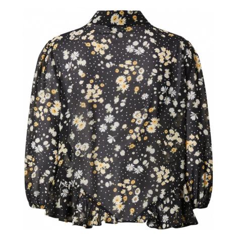 Miss Selfridge Koszulka 'SHEER DAISY' czarny