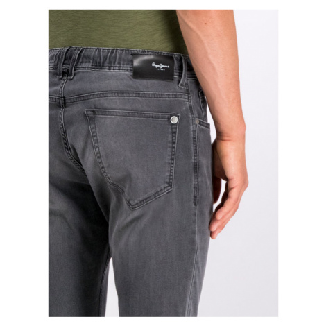 Pepe Jeans Jeansy Straight Leg Johnson PM204385UC4L Czarny Relaxed Fit