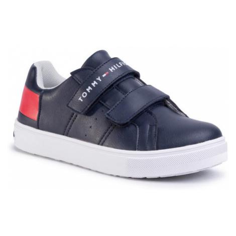 Tommy Hilfiger Sneakersy Low Cut Velcro Sneaker T3B4-30719-019 S Czarny