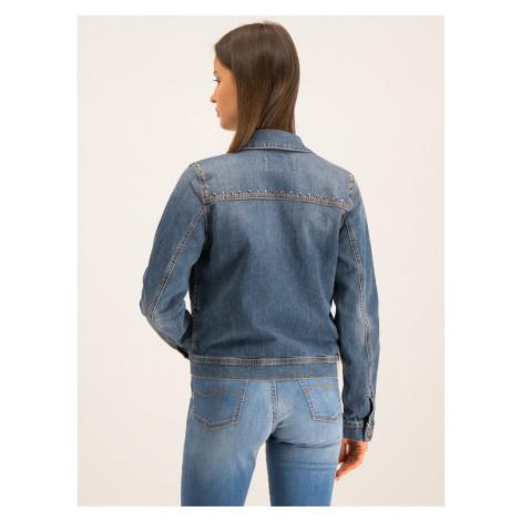 Trussardi Jeans Kurtka jeansowa 56S00409 Granatowy Regular Fit