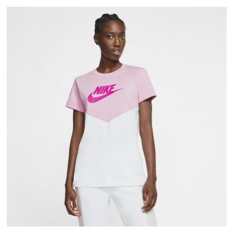 Damska koszulka z krótkim rękawem Nike Sportswear Heritage - Różowy