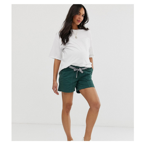 Mamalicious maternity cotton shorts with tape detail Mama Licious