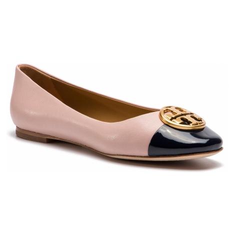 Baleriny TORY BURCH - Chelsea Cap-Toe Ballet 46882 Sea Shell Pink/Perfect Navy 964