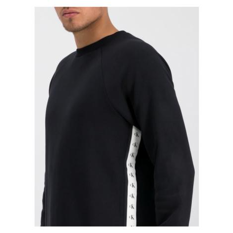 Calvin Klein Jeans Bluza Monogram J30J313209 Czarny Regular Fit