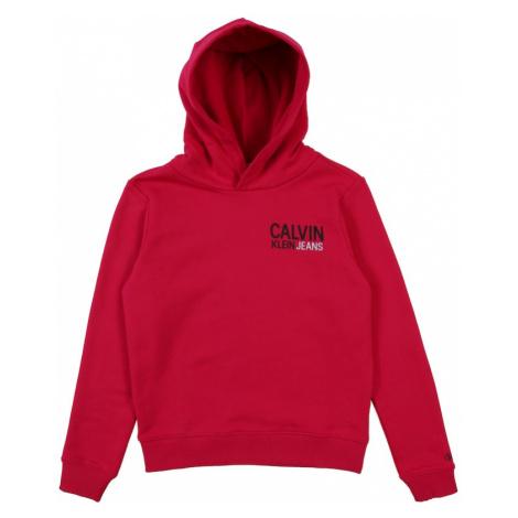 Calvin Klein Jeans Bluzka sportowa 'Small Stamp Logo' czerwony / różowy pudrowy