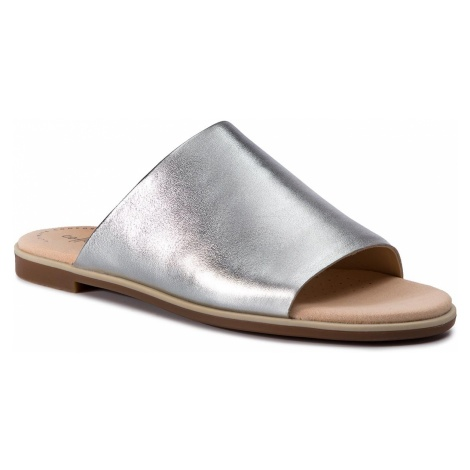 Klapki CLARKS - Bay Petal 261392944 Silver Metallic