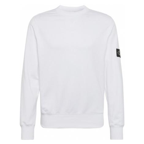 Calvin Klein Jeans Bluzka sportowa 'MONOGRAM' biały / czarny