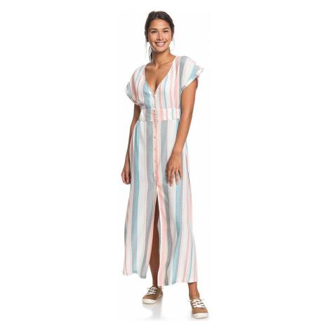 sukienka Roxy Furore Lagoon Stripe - WBK3/Snow White Retro Vertical