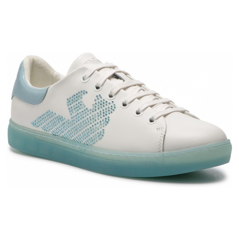 Sneakersy EMPORIO ARMANI - X3X071 XL807 A042 White/Light Blue