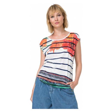 koszulka Desigual 73T2WJ2/Macarena - 1000/Blanco