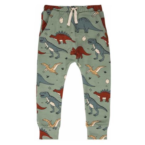 Walkiddy Spodnie 'Baggy' jasnozielony / ognisto-czerwony / gołąbkowo niebieski / biały / brązowy