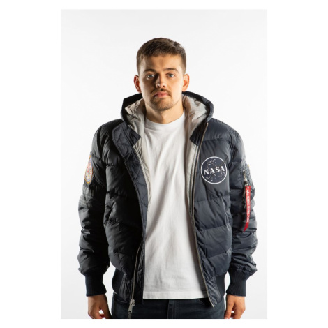 Kurtka Alpha Industries Hooded Puffer Apollo 11 07 Rep. Blue