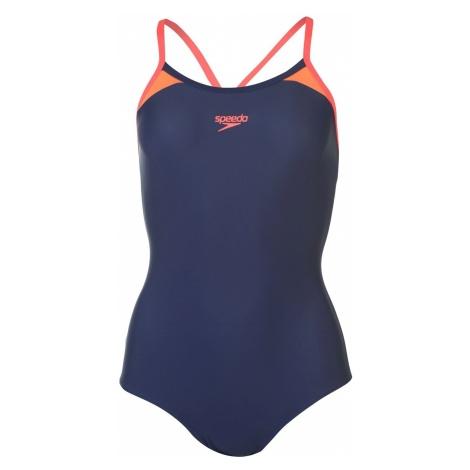 Speedo Splice Racer Swimsuit Ladies