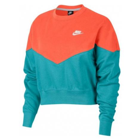 Nike NSW HRTG CREW FLC pomarańczowy L - Bluza damska