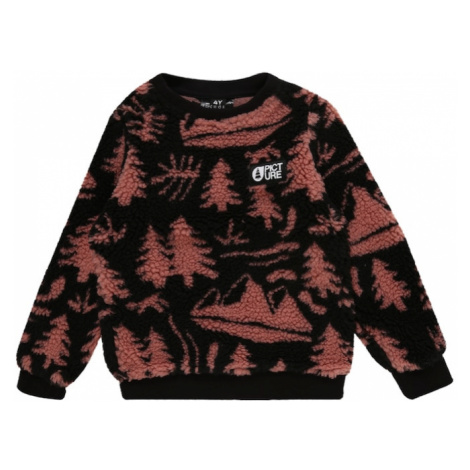 Picture Organic Clothing Sweter sportowy 'Away Crew' rdzawoczerwony / czarny