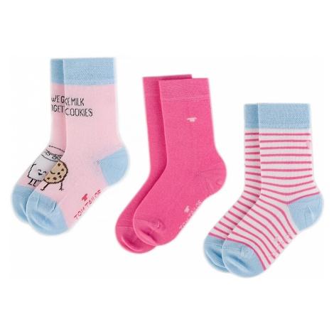 Zestaw 3 par wysokich skarpet dziecięcych TOM TAILOR - 93107 Candy Rose 381