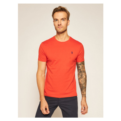 Polo Ralph Lauren T-Shirt Classics 710671438159 Pomarańczowy Slim Fit