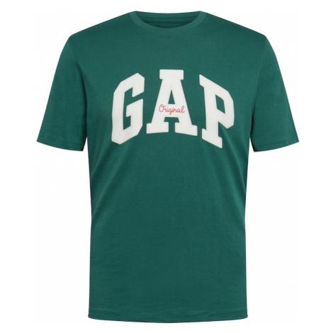 GAP Koszulka ciemnozielony / biały