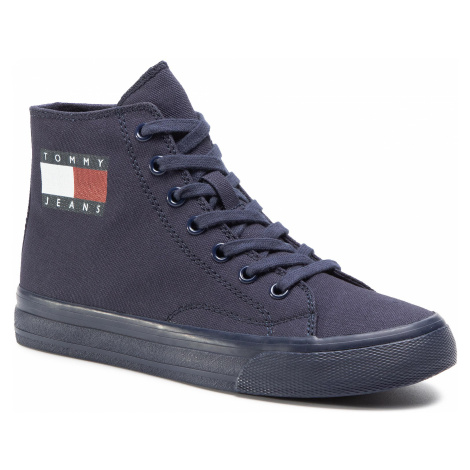 Sneakersy TOMMY JEANS - Wmns Mid Cut Lace Up Vulc EN0EN00937 Twilight Navy C87 Tommy Hilfiger