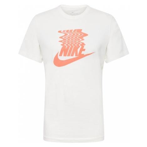 Nike Sportswear Koszulka 'M NSW TEE SZNL STMT 11' kremowy / pomarańczowy