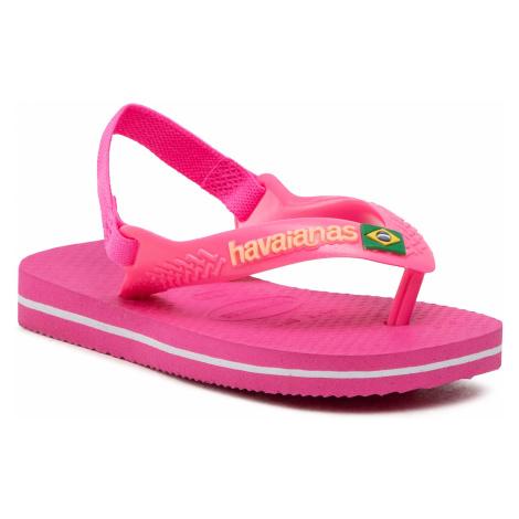 Sandały HAVAIANAS - Brasil Logo 41405775784 Pink Flux