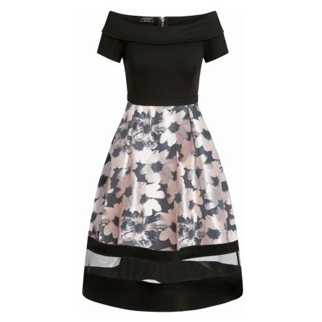 APART Sukienka czarny / jasnoróżowy