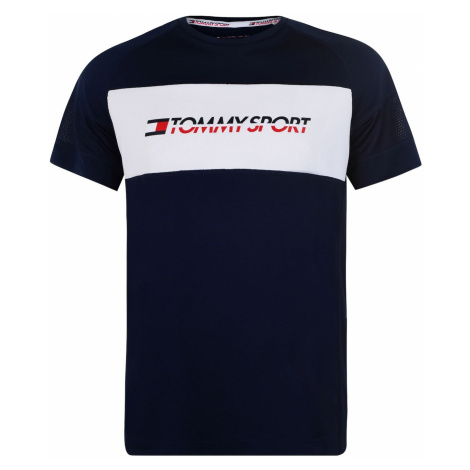 Tommy Sport Perforated Mesh T Shirt Tommy Hilfiger