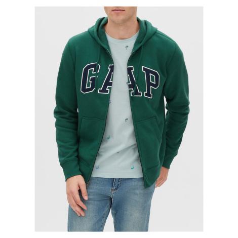 GAP zielona bluza męska z kapturem