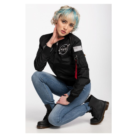 Kurtka Alpha Industries Pilotka Ma-1 Tt Nasa Reversible Wmn 186022-03 Black