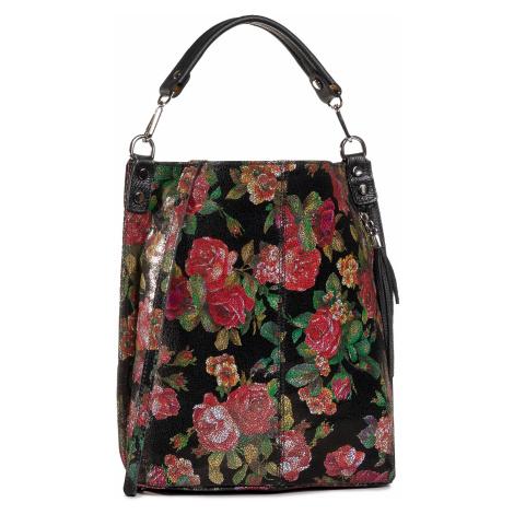 Torebka CREOLE - K10749 Czarny Kwiaty