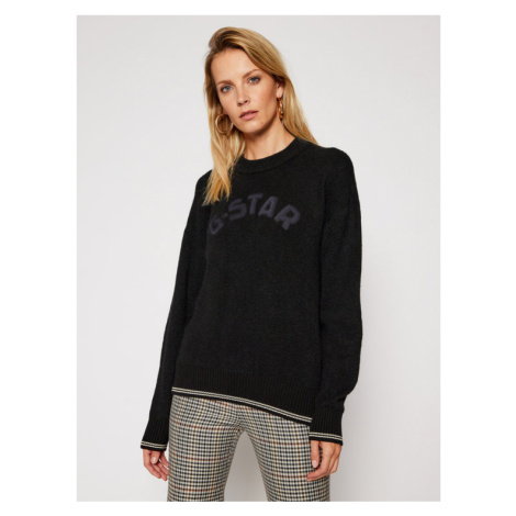 G-Star Raw Sweter College D17750-C459-6484 Czarny Loose Fit