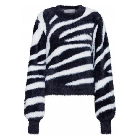 IVYREVEL Sweter 'RELAXED FUZZY' czarny / biały
