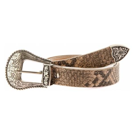 Trendyol Brown snake pattern ethnic buckle Basen belt