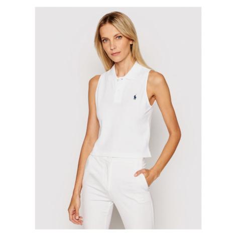 Polo Ralph Lauren Polo Sls 211838096002 Biały Regular Fit