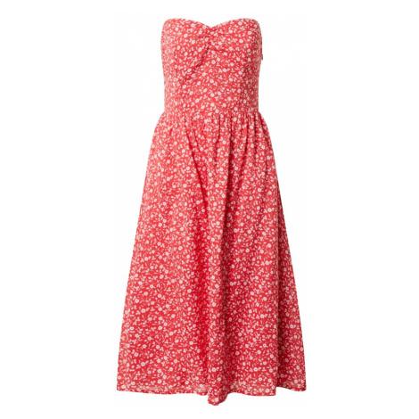 Tommy Jeans Letnia sukienka biały / czerwony Tommy Hilfiger