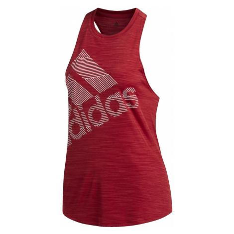 ADIDAS PERFORMANCE Koszulka funkcyjna 'Badge of Sport' rubinowo-czerwony / biały