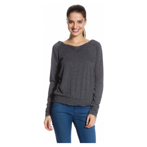 koszulka trykotowa Roxy Eternal LS - KVJH/True Black Heather