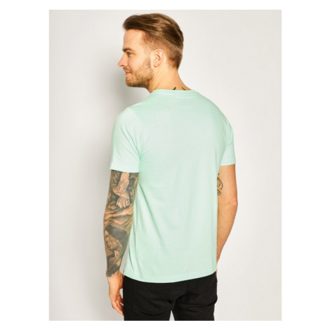 New Balance T-Shirt Essentials Stacked Logo Tee MT01575 Zielony Athletic Fit